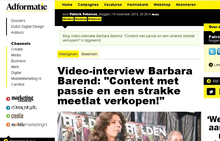interviewbarendadformatie